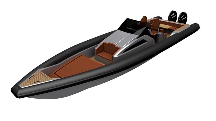 launching in 2019 the Technohull Explorer 40 RIB is made for megayachts