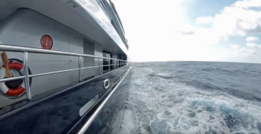 the megayacht Arience crossed the Atlantic in May 2019