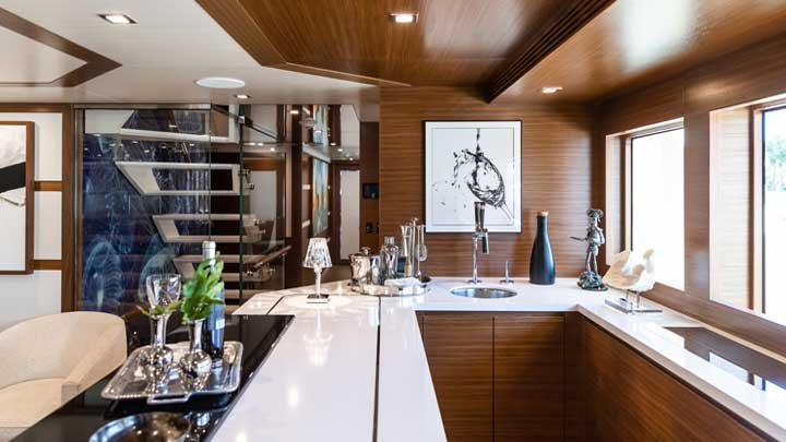 Burger Boat Company built the megayacht Northland for fishing and exploring