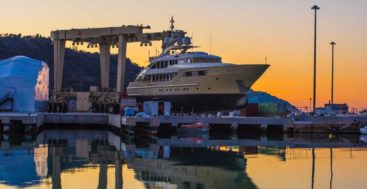 Cantiere Rossini services megayachts in Pesaro in Italy