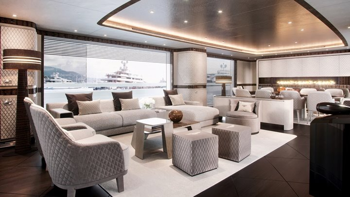 Dynamiq is working with Bentley Home for the Dynamiq Global 330 megayacht's furnishings