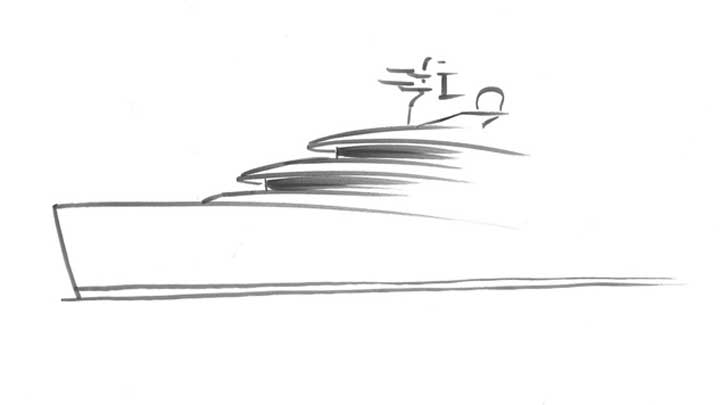 a 62-meter megayacht designed by Espen Oeino is known to be Nobiskrug Project 794