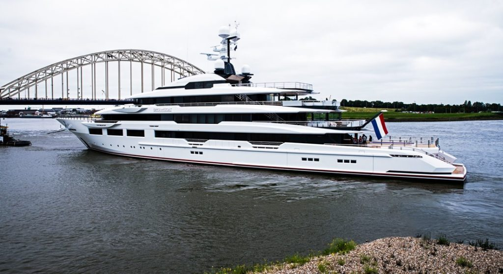 Oceanco delivered the megayacht DreAMBoat in late June 2019