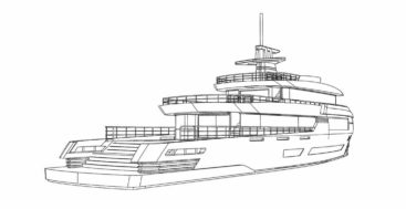 the Spadolini 43M explorer is a megayacht that Tommaso Spadolini is designing for an experienced owner