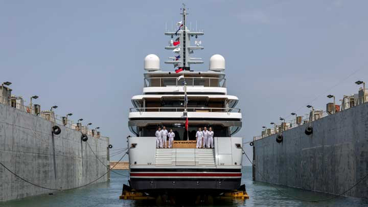 VSY launched the megayacht Atomic on June 10