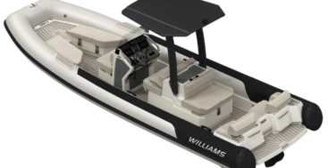 the Williams Jet Tenders Evojet 70 is specifically for superyachts