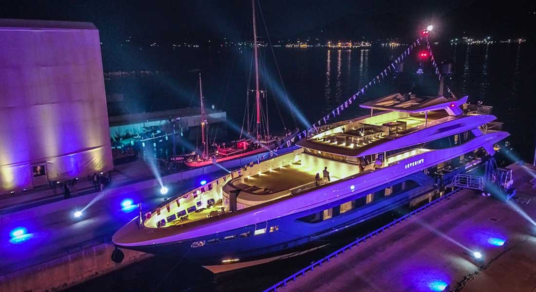 Severinºs launched from Baglietto as part of the T Line of megayachts