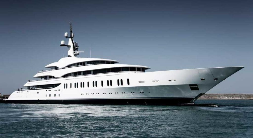 the megayacht IJE is the biggest Benetti yet, what it calls a giga yacht
