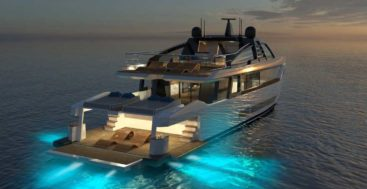 the Bulldog 88 megayacht is from Cantiere Navale Santamargherita