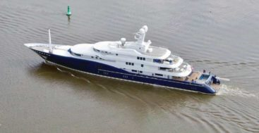 the new styling for the superyacht C2 after refit by Abeking & Rasmussen