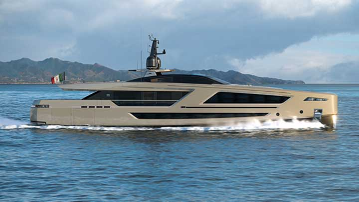 the CCN megayacht Panam launches in 2020