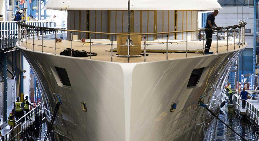 the superyacht Syzygy 818, a.k.a. Feadship 818