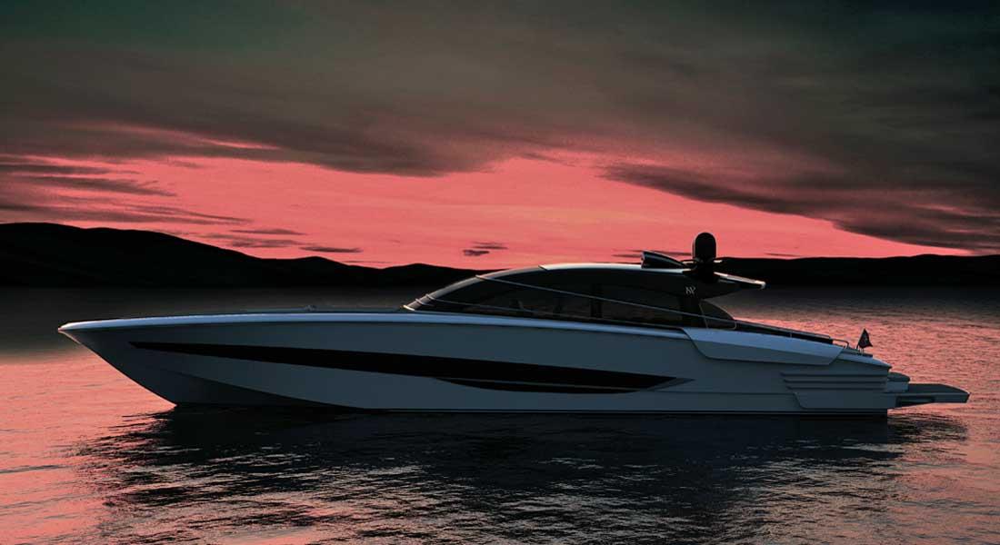 the ISA Super Sportivo GTO 100 megayacht should hit 50 knots