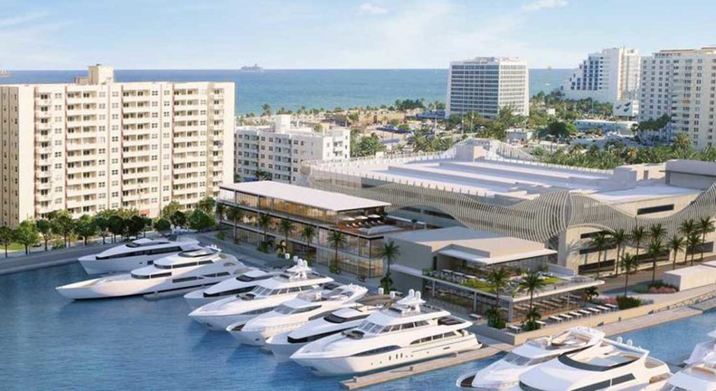 the planned Las Olas marina redevelopment for megayachts