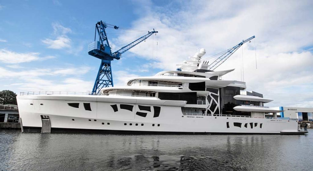the megayacht Artefact launched at Nobiskrug in July