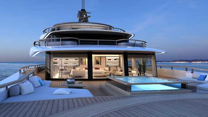 The Nauta 78M Slipstream is a superyacht concept from Nauta Design