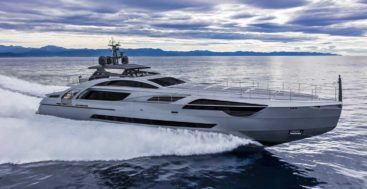 Chorus Line is the first Pershing 140 megayacht and exceeds 30 knots
