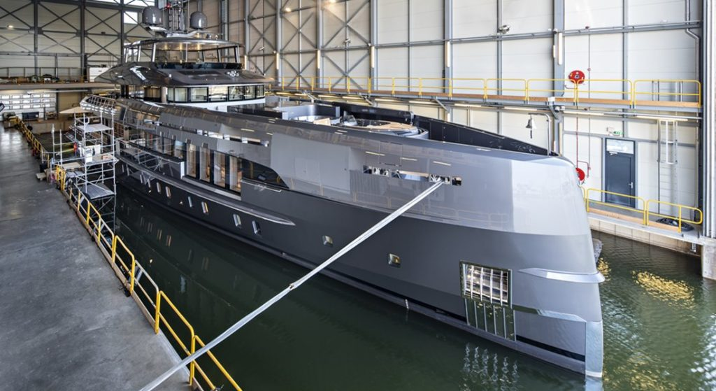 the megayacht Erica, also known as Project Boreas, was built by Heesen Yachts