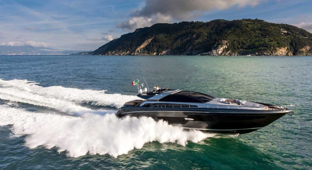 the Riva 88 Domino Super hosted the University of Miami coaching staff, featured in our celebrity spotting on superyachts story