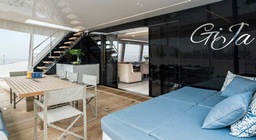 Gija is a Sunreef 80 sailing superyacht