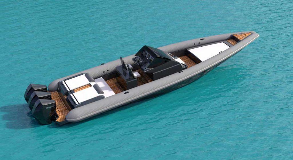 the Technohull 38 Grand Sport superyacht tender should hit 103 knots