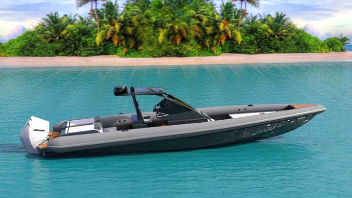 the Technohull 38 Grand Sport megayacht tender is made for fast speeds