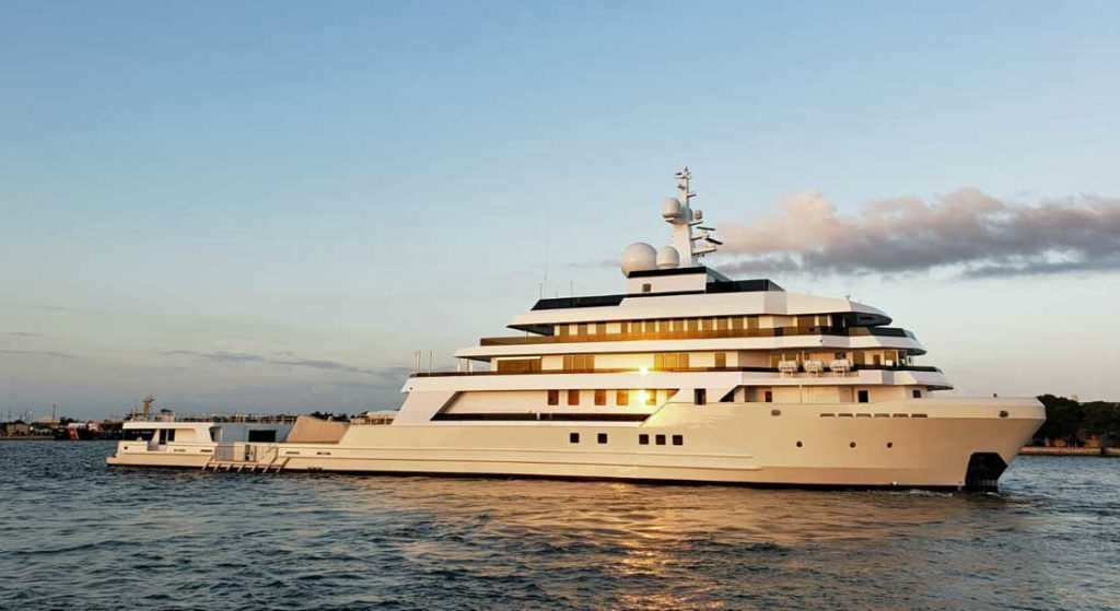 Voyager is the largest superyacht conversion on U.S. soil
