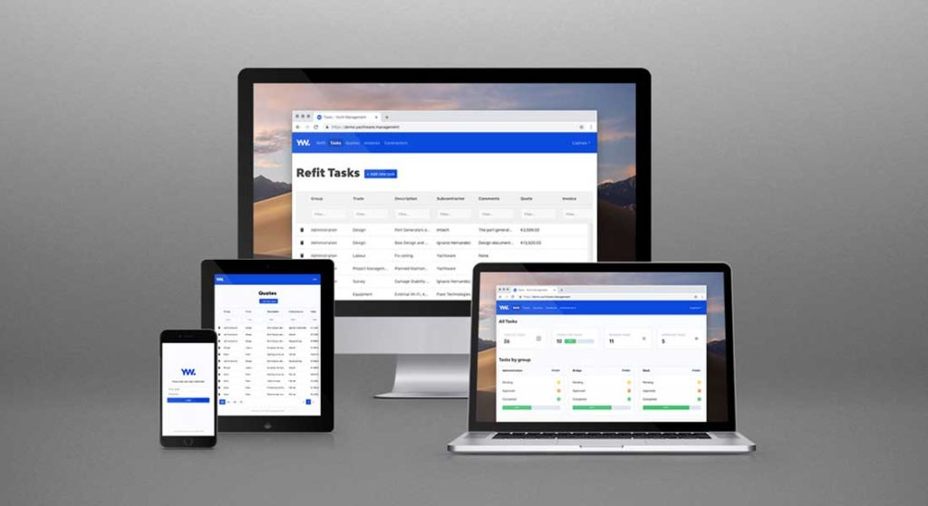 Yachtware is superyacht specific refit and yacht management cost tracking software