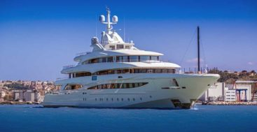 the CRN 135 megayacht, measuring 79 meters