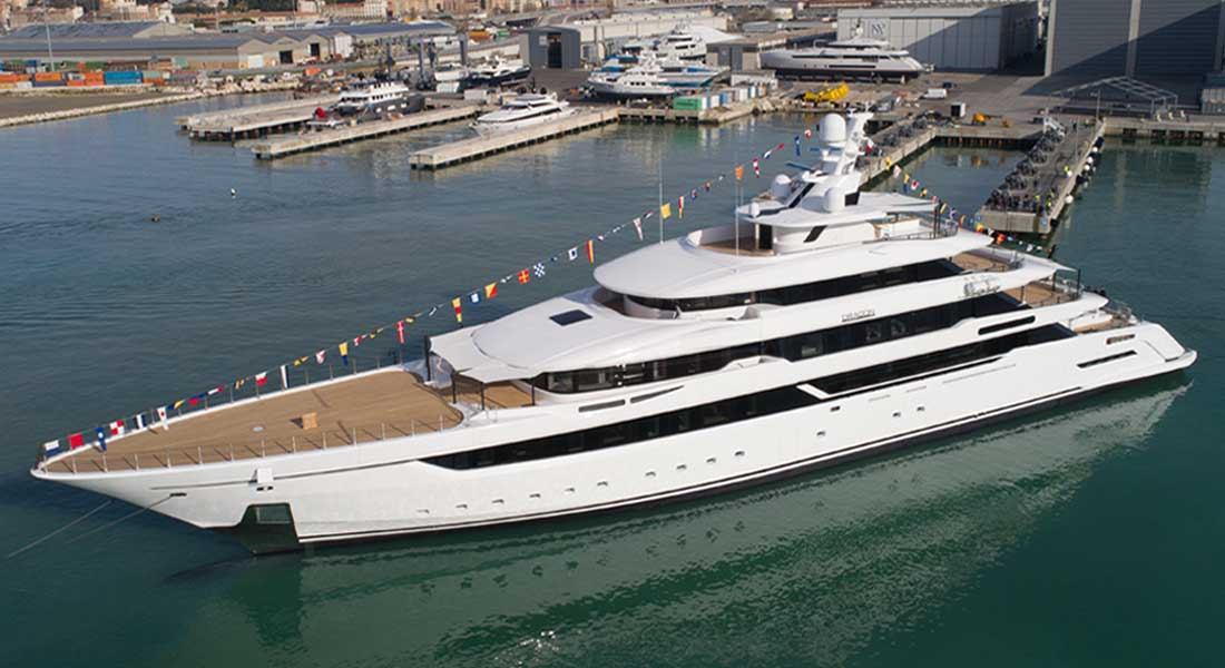 Columbus Yachts built Dragon , among the megayachts to visit at the Monaco Yacht Show