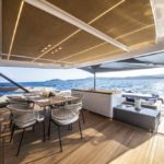 Extra 86 Fast megayacht has a cascading aft deck