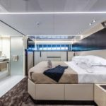 the master suite aboard the Extra 86 Fast megayacht