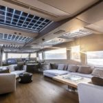 an alternate view of the saloon aboard the Extra 86 Fast megayacht