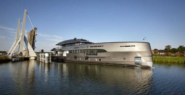 the megayacht Erica was formerly known as Project Boreas at Heesen