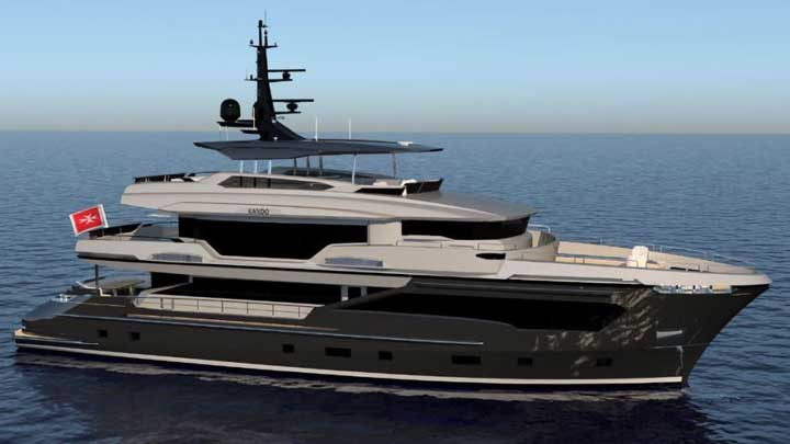 Tony Parker's superyacht is hull number two of the Kando 110 series