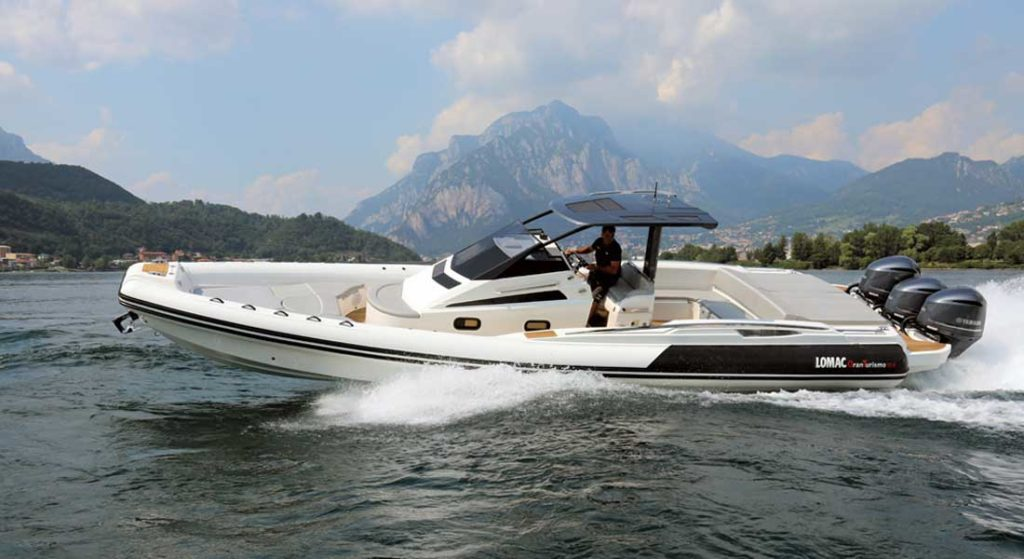 the Lomac Granturismo 12.0 RIB is for families and suited as a superyacht toy
