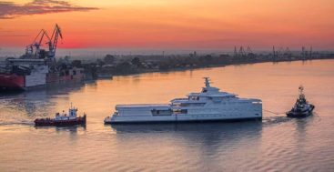 the SeaXplorer 77 superyacht La Datcha en route to Holland