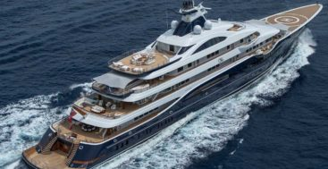 the Lurssen Tis is one of 15 megayachts to visit at the Monaco Yacht Show