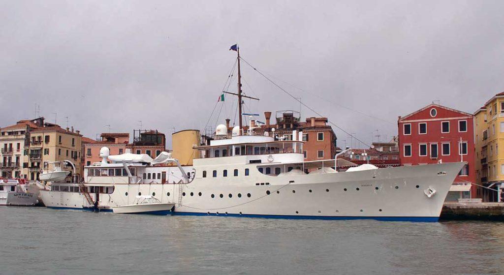 the classic megayacht Marala as seen in 2012