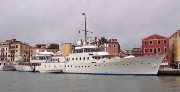 the classic megayacht Marala as seen in 2012