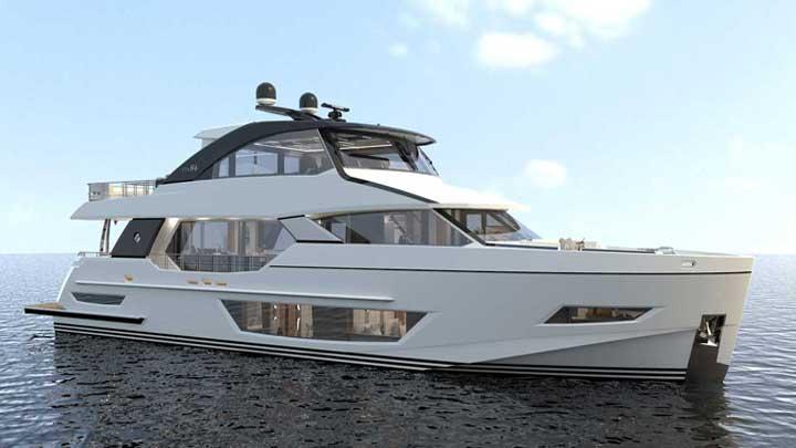 the Ocean Alexander 84R joins the Revolution megayacht series