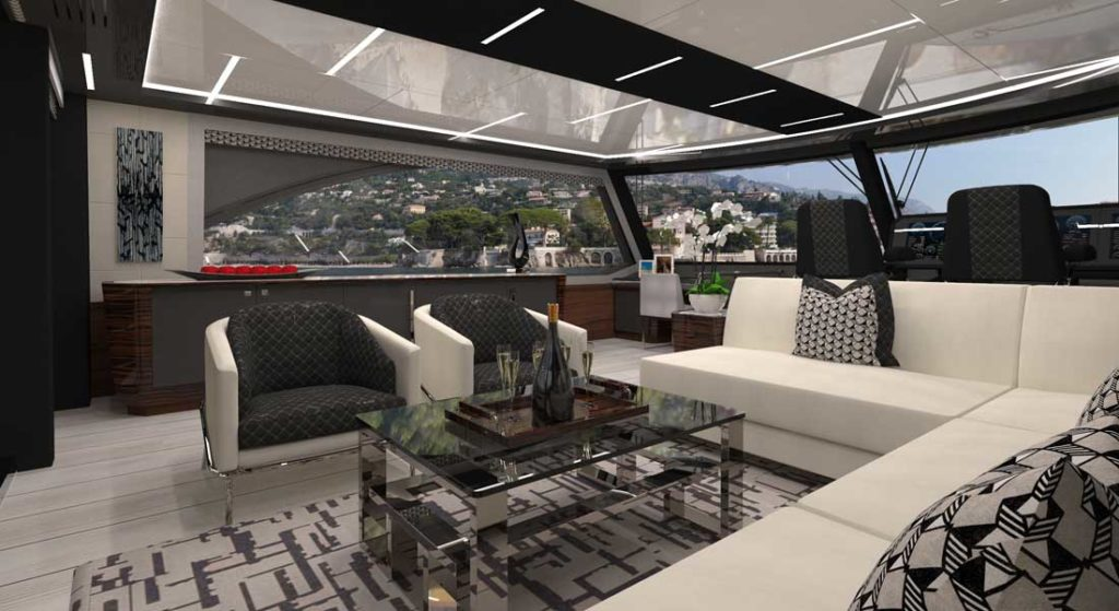 the Ocean Alexander 84R is a styling megayacht option