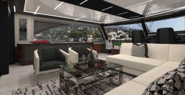 the Ocean Alexander 84R is a styling megayacht option