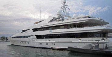 the superyacht Constellation seen in Antibes in 2008
