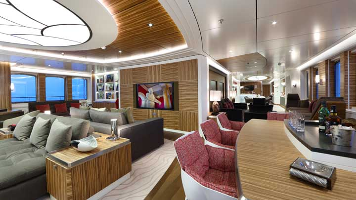the megayacht Yersin is chartering for the first time and has a modern interior decor