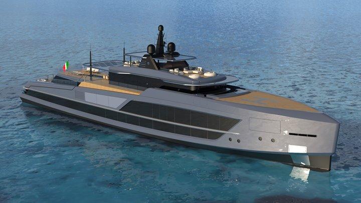 the Baglietto 65M V-Line megayacht
