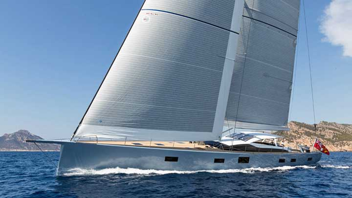 Liara is a superyacht sloop from Baltic Yachts