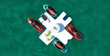 FunAir Toy Islands is a watertoy organizer/dock for superyachts
