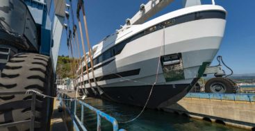 the first Extra 130 Alloy superyacht is christened L.A.U.L.