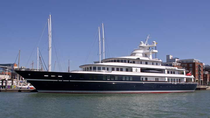 the superyacht Leander G was owned by Sir Donald Gosling